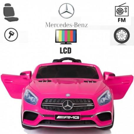 COCHE ELÉCTRICO PARA NIÑOS MERCEDES SL65 PANTALLA LCD MP4