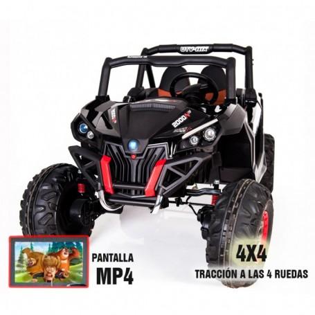 COCHE ELÉCTRICO PARA NIÑOS RSX BUGGY CON PANTALLA MP4 24V RC 2021